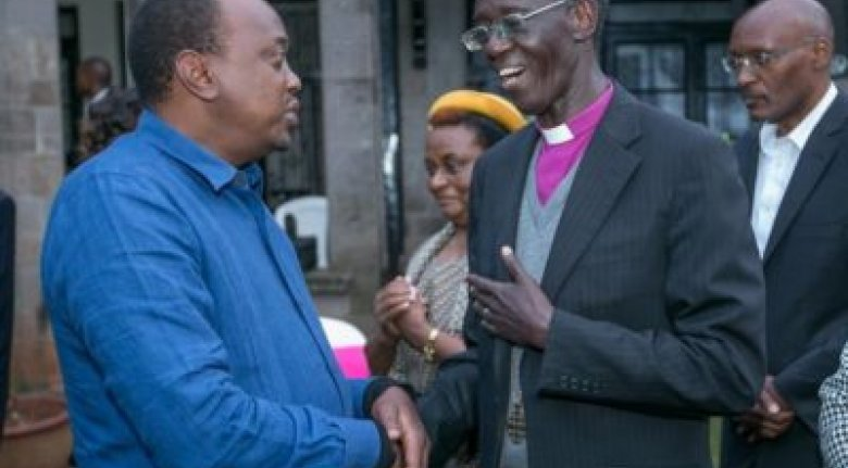 President Kenyatta and Archbishop Wabukala
