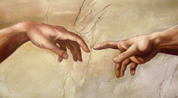 Michaelangelo Creation of Adam Fingers